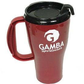 Monogrammed Omega Mug with Slider Lid