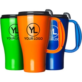 Omega Mug with Slider Lid Printed with Your Logo