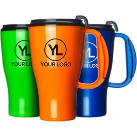 Omega Mug with Slider Lid Printed with Your Logo
