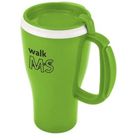 Logo Dishwasher Safe Omega Mug with Slider Lid
