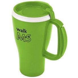 Logo Dishwasher Safe Omega Mug with Slider Lid