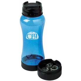 PC Water Bottle with Pill Box