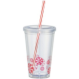 Peppermint Sedici Tumbler with Your Slogan