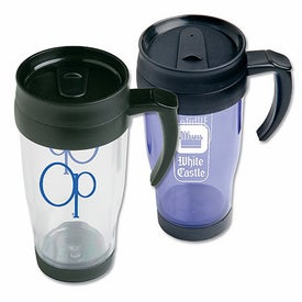 Plastic Cafe Mug with Handle