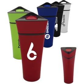 Plastic Travel Mug with Triangular Lid (16 Oz.)