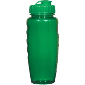 Imprinted Poly-Clear Gripper Bottle