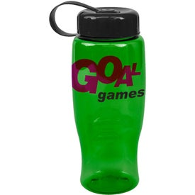 Monogrammed Poly-Pure Bottle with Tethered Lid