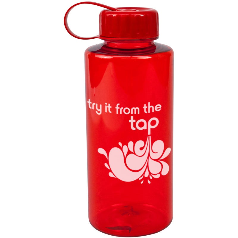 Poly-Pure Mountain Bottle (36 Oz., Transparent)