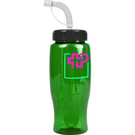 Monogrammed Poly-Pure Transparent Bottle