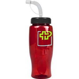 Promotional Poly-Pure Transparent Bottle
