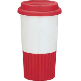 Ripple Grip Double Wall Ceramic Tumbler for Your Company