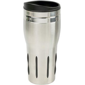 Monogrammed Rubber Grip Stainless Steel Tumbler