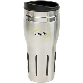 Rubber Grip Stainless Steel Tumbler (14 Oz.)
