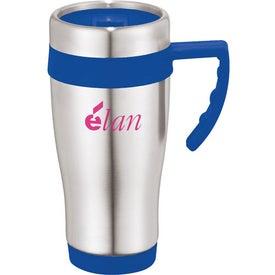 Monogrammed Seaside Travel Mug