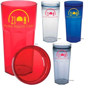 Single Wall Retro Tumbler Printed with Your Logo