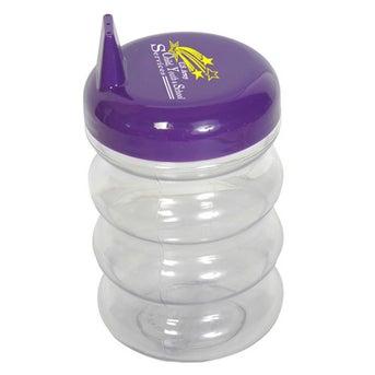 Clear w/Purple Lid