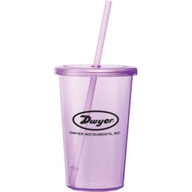 Sizzle Tumbler with Straw with Your Logo