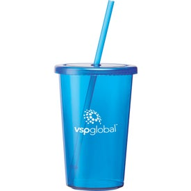 Sizzle Tumblers with Straw (16 Oz.)