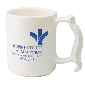Spine Mug (13 Oz., Off White and White)