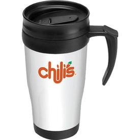Logo Splash Proof Lid Travel Mug