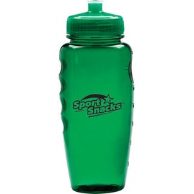 Sporty Poly Clean Bottle with Push Pull Lid Giveaways