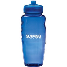 Sporty Poly Clean Bottle with Push Pull Lid for Advertising