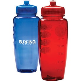 Sporty Poly Clean Bottle with Push Pull Lid (24 Oz.)