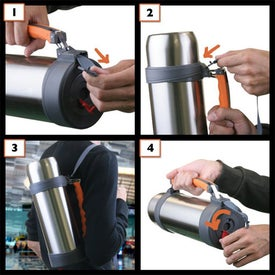 Stainless Steel Vacuum Thermos Bottle Branded with Your Logo