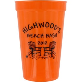 Polypropylene Stadium Cup with Your Slogan