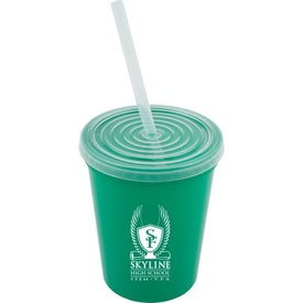 Stadium Cup with Lid and Straw (16 Oz.)