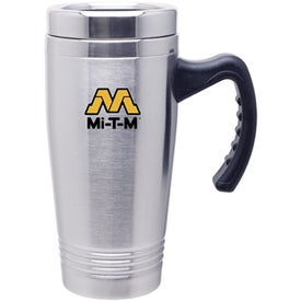 Stainless Grip Handle Mug