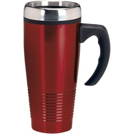 Branded Stainless Ridged Mug