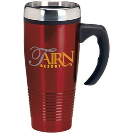 Logo Stainless Ridged Mug