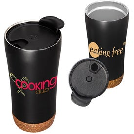 Stainless Steel Double Wall Vacuum Tumblers with Cork Base (16 Oz.)