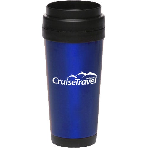 Blue Stainless Steel Insulated Travel Mug
