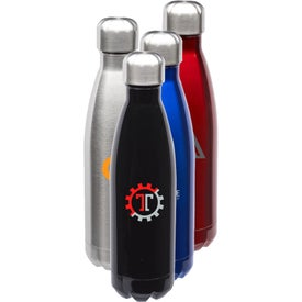 Stainless Steel Levian Cola Shaped Bottle (17 Oz.)