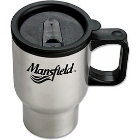 Stainless Steel Sculptured Travel Mug (16 Oz.)