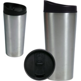 Stainless Steel Slant Top Travel Tumbler for your School