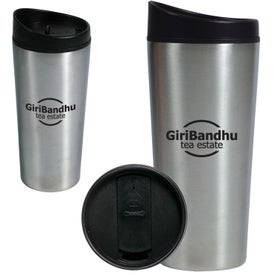 Stainless Steel Slant Top Travel Tumbler (16 Oz.)