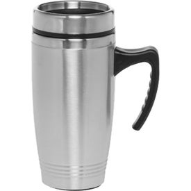 Stainless Steel Travel Mug with Handle (16 Oz.)