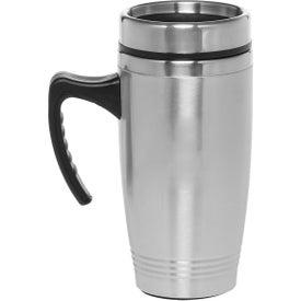 Stainless Steel Travel Mug with Handle (16 Oz.)