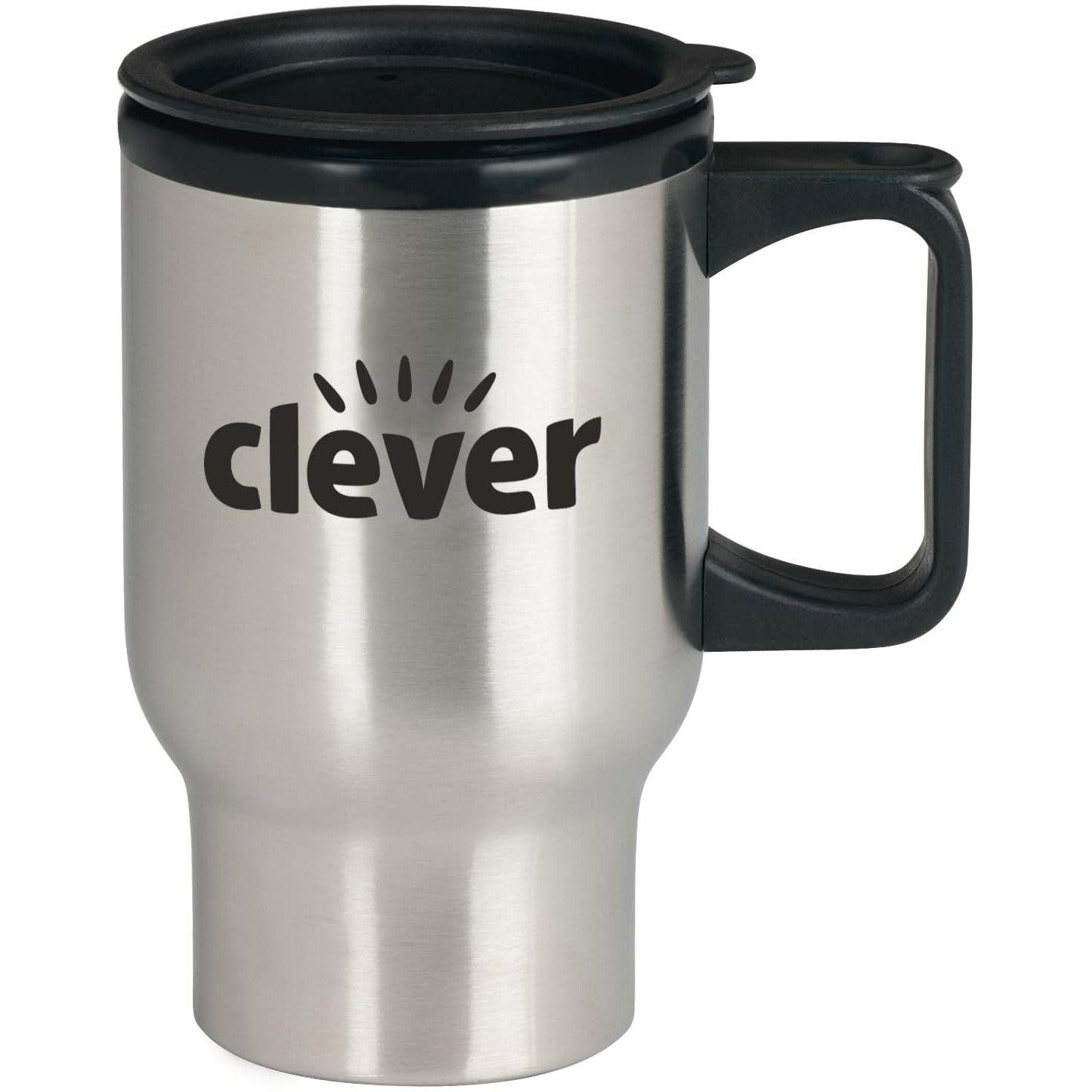 stainless steel trip mug 17 oz promotional travel mugs. Black Bedroom Furniture Sets. Home Design Ideas