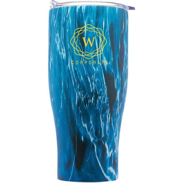 Blue Flame Stainless Steel Tumbler with Push Lid