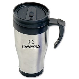 Stainless Steel Tumbler with Handle (16 Oz.)