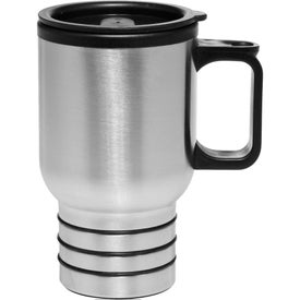 Stainless Travel Mug with Handle (16 Oz.)