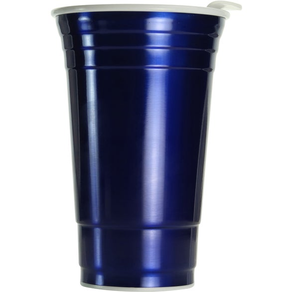 Blue Stainless Vintage Uno Cup