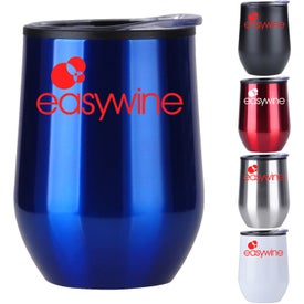 Stainless Wine Tumblers with Plastic Liner (12 Oz.)