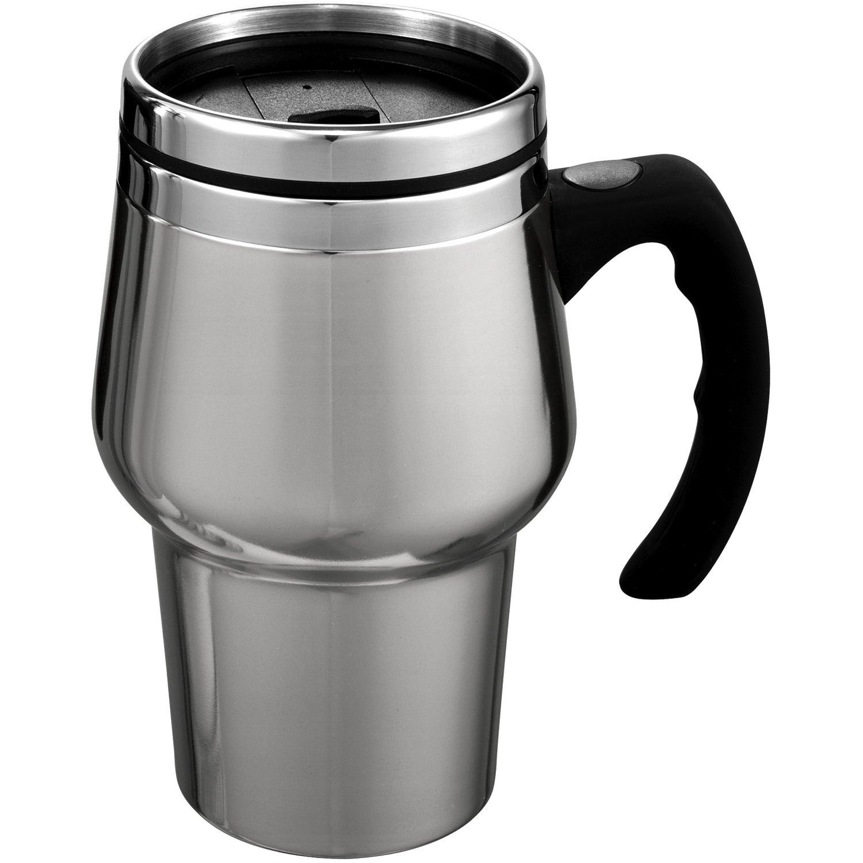 stainless steel roadster travel mug 14 oz promotional. Black Bedroom Furniture Sets. Home Design Ideas
