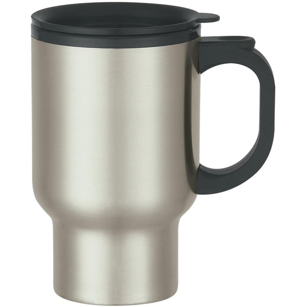 stainless steel travel mug with sip thru lid 16 oz. Black Bedroom Furniture Sets. Home Design Ideas