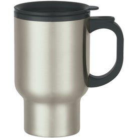 Stainless Steel Travel Mug with Sip-thru Lid for your School